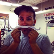 Adam clowning with our new lockring wrench...